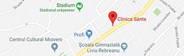 Harta Clinica Sante Mioveni