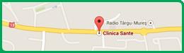 Harta Clinica Sante Târgu Mureș